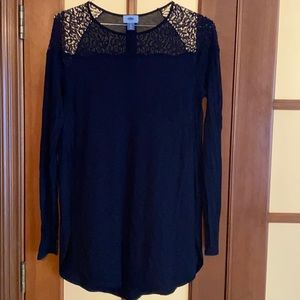 Top Lace Black Tunic